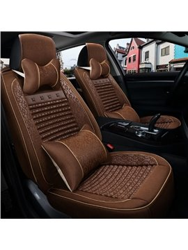 Luxury Coffee Style Classic Business Design Durable Material Universal Five Car Seat Cover