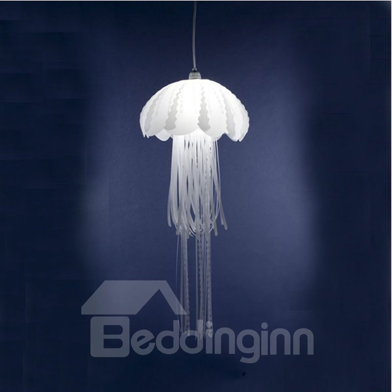 Simple Style White Jellyfish Shape Design PVC Environmental LED Pendant Light
