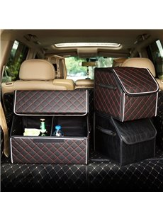 Small Size High-Grade Leather Durable Enough Capacity Car Trunk Organizer
