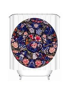 Chinese Style 3D Printing Waterproof Bathroom Shower Curtain