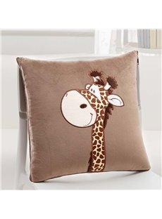 Lovely Cartoon Giraffe Pattern Design Three Kinds Of Use Multi-Functional Car Pillow