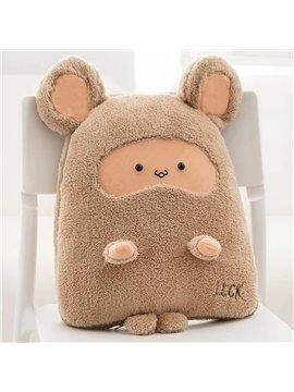 Cute Cartoon Brown Mouse Pattern Design Three Kinds Of Use Multi-Functional Car Pillow