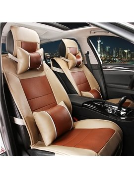 Business Style Design Luxury Charming Contrast Color PU Leather Material Universal Car Seat Cover