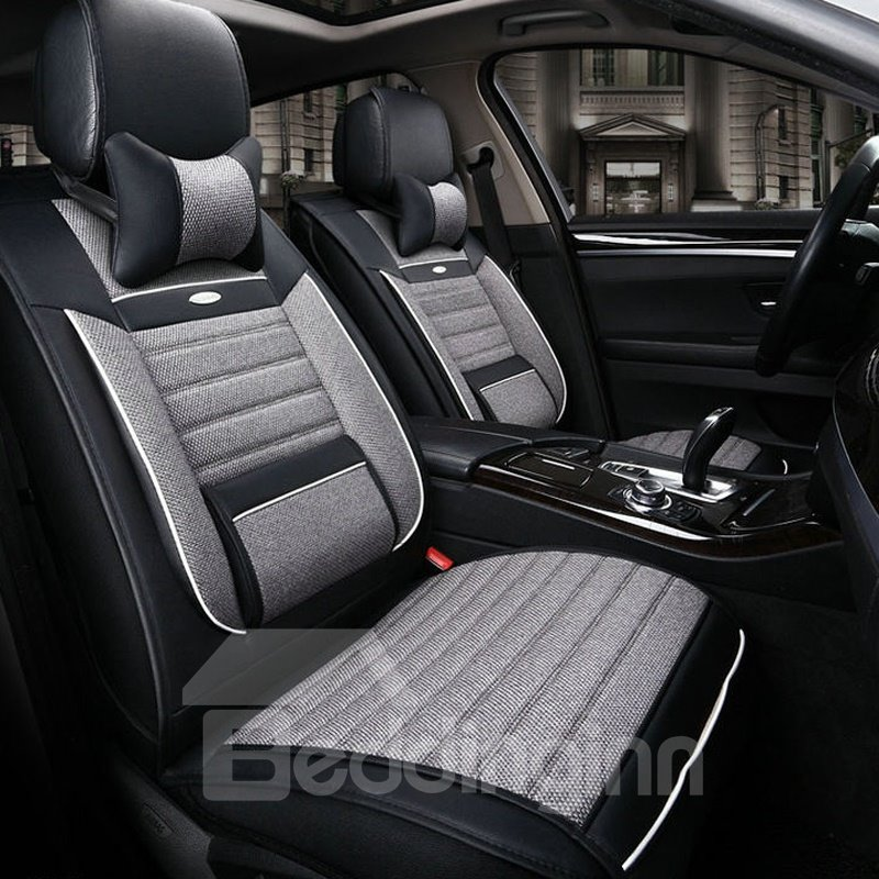 Super High Cost-Effective Classic Black Style Durable PU Leather Material Universal Car Seat Cover