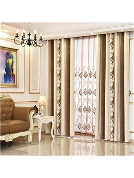 Grey Chenille Thermal Grommet Top Custom Curtain
