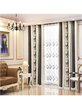 Coffee Color Chenille Thermal Grommet Top Custom Curtain