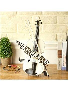 European Style Iron Creative Violin Design Desktop Decoration
