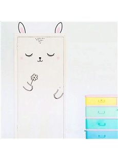 Cute Cartoon Rabbit Design Door or Wall Decal