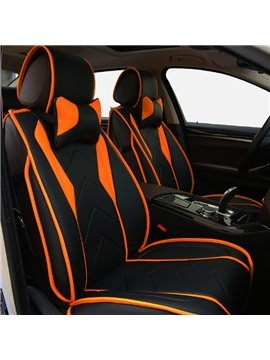 Fashion Sport Design With Streamline Craft Real Leather Material Universal Five Car Seat Cover