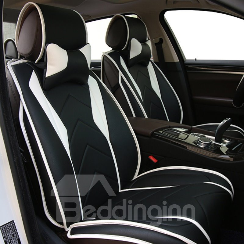 62 New Fashion Sport Design With Streamline Craft Real Leather Material Universal Car Seat Cover