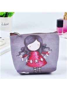 Cartoon Cute Girl Painting Women Makeup Bag Coin Wallet Purse (12730454) photo