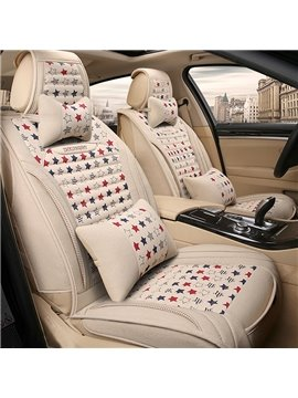 Beautiful Stars Pattern Simple Creative Design Good Permeability Universal Five Car Seat Cover