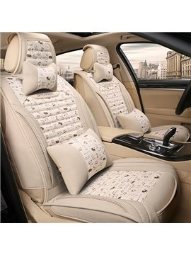 Creative Modern Simple Design Good Permeability Flax Material Universal Five Car Seat Cover