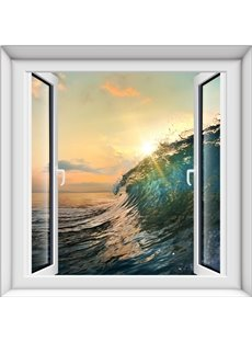 Gorgeous Sunset Waves Scenery Design Home Decorative 3D Wall Stickers