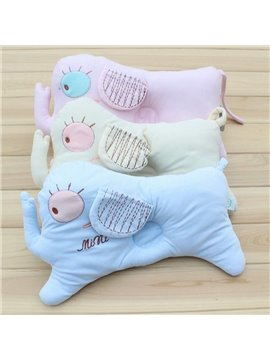 Creative Elephant Design Multicolor Option Prevent Flat Head Baby Pillow