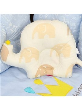 Adorable Elephant Pattern Prevent Flat Head Baby Pillow