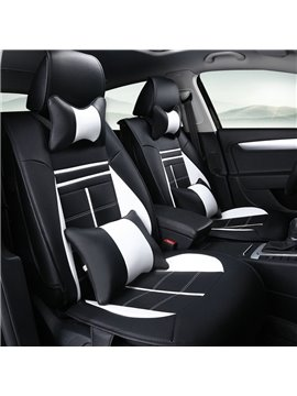 New Fashion Fresh Contrast Color Style Sport Design Durable PU Leather Material Universal Car Seat Cover