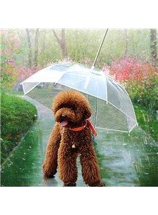 Creative Design Transparent with Leash Pets Umbrella