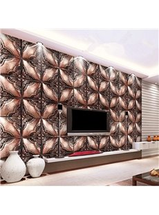 Retro European Style Flower Plaid Pattern Home Decorative Wall Murals