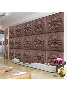 Classic Retro Style Flower Plaid Pattern Home Decorative Wall Murals