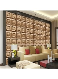 Amazing Three-dimensional Chocolate Square Pattern Decorative Wall Murals