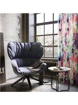 Contemporary Window Decoration Cotton and Linen Blending Custom Curtain