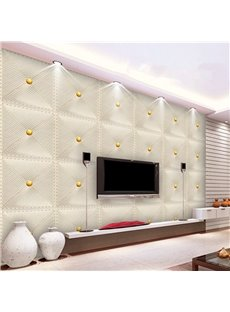 Fabulous White Simple Style Plaid Pattern Living Room Decoration Wall Murals