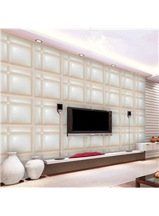 Fresh Modern Style Simple Plaid Pattern Home Decorative Wall Murals