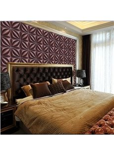Classic European Style Square Flower Plaid Pattern Home Decorative Wall Murals