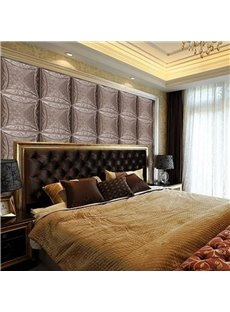 Luxury European Style Three-dimensional Square Plaid Pattern Wall Murals