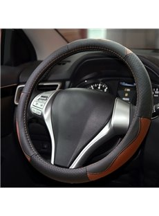 Classic Business Luxury Style Durable PU Material Medium Car Steering Wheel Cover