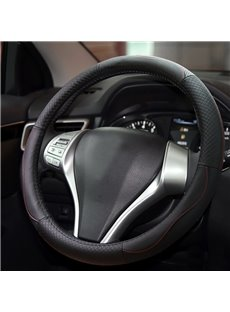 Classic Business Luxury Black Style Durable PU Material Medium Car Steering Wheel Cover