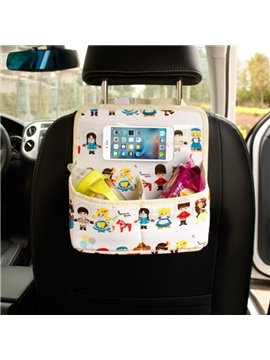 Fashion Cartoon Character Pattern Medium Hanging Car Chair-Back Organizer