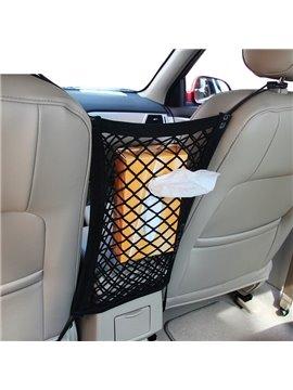 Simple Design And Enough Capacity Nylon Mesh Material Car Chair-Back Organizer