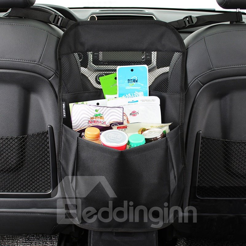 Classic Black Simple Design Hanging Suspension Oxford Cloth High Capacity Car Chair-Back Organizer Classic Black Simple Design Hanging Suspension Oxford Cloth High Capacity Car Chair-Back Organizer