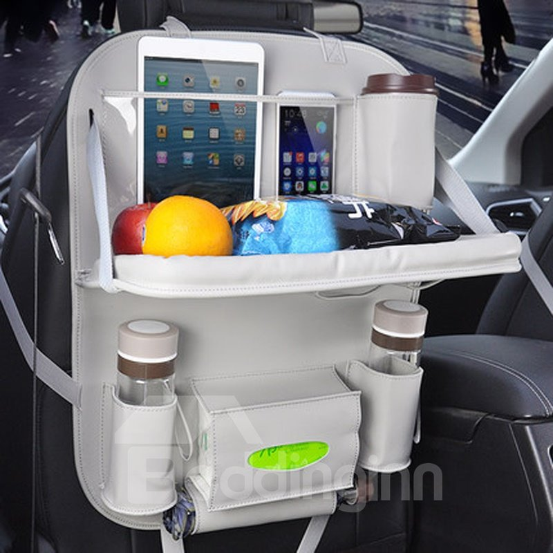 Popular Gray Multifunction Hanging Oxford With PU Material High Capacity Chair-Back Organizer