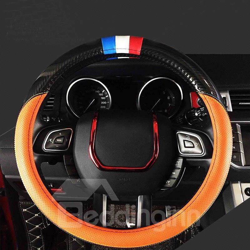 Super Luxury Sport Design Carbon Fiber With PU Material Medium Car Steering Wheel Cover