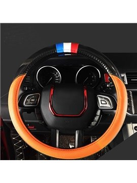 Super Luxury Sport Design Carbon Fiber With PU Material Medium Car Steering Wheel Cover
