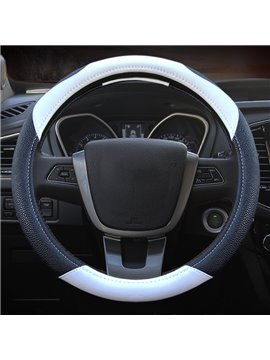 High Grade Contrast Color Durable PU Leather Material Medium Car Steering Wheel Cover