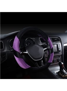Fashion And Popular Well Designed Short Plush Material Medium Steering Wheel Cover