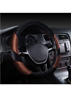 Comfortable And Classical Contrast Color Design Anti-Skidding Steering Wheel Covers