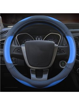 Simple And Elegant Four Season Sport Style Design Leather Medium Steering Wheel Covers