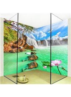 Attractive Waterfalls Lake Scenery Pattern Waterproof 3D Bathroom Wall Murals