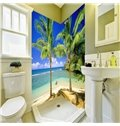 Leisurely Blue Sky and Seaside Scenery Pattern Waterproof 3D Bathroom Wall Murals