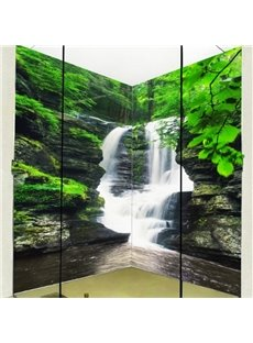 Fabulous Intermountain Waterfalls Pattern Waterproof 3D Bathroom Wall Murals