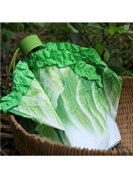 Vivid Cabbage Design Folded Personal Umbrella