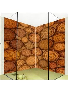 Amusing Natural Tree Rings Pattern Waterproof 3D Bathroom Wall Murals