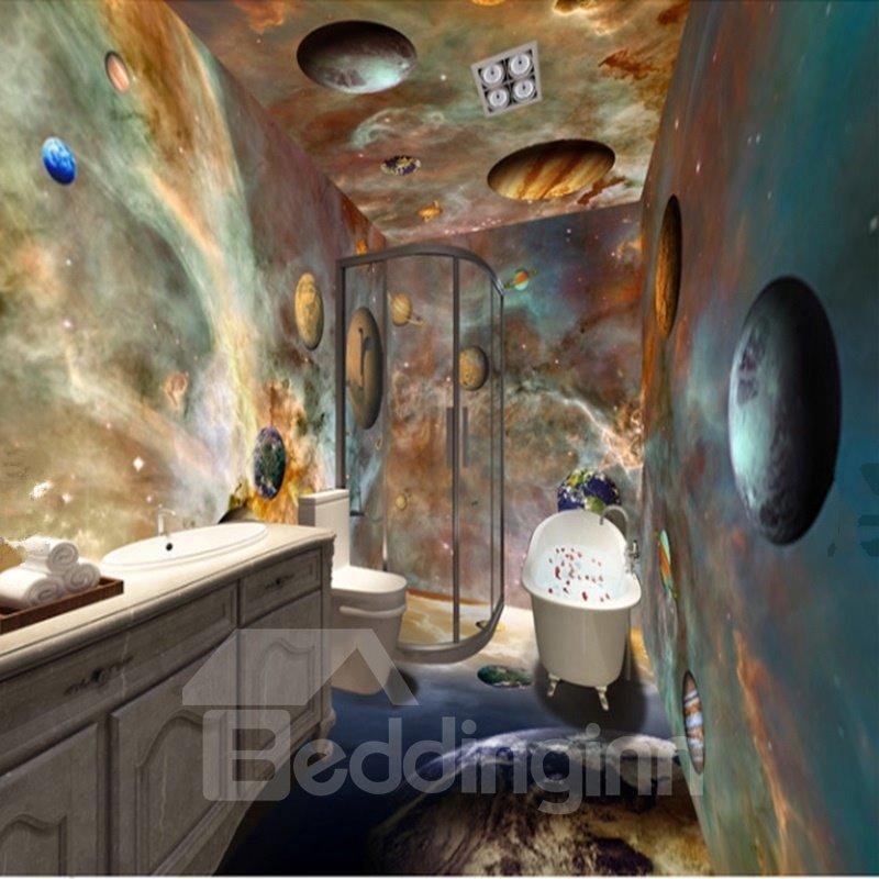 Dreamy Modern Design Planets Pattern Waterproof 3d
