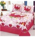 Romantic Roses Reactive Printing 2-Piece Cotton Pillow Cases