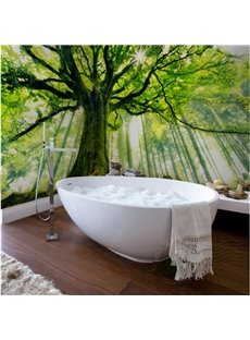 Sunlight luxuriant Tree Pattern Design Decorative Waterproof 3D Bathroom Wall Murals